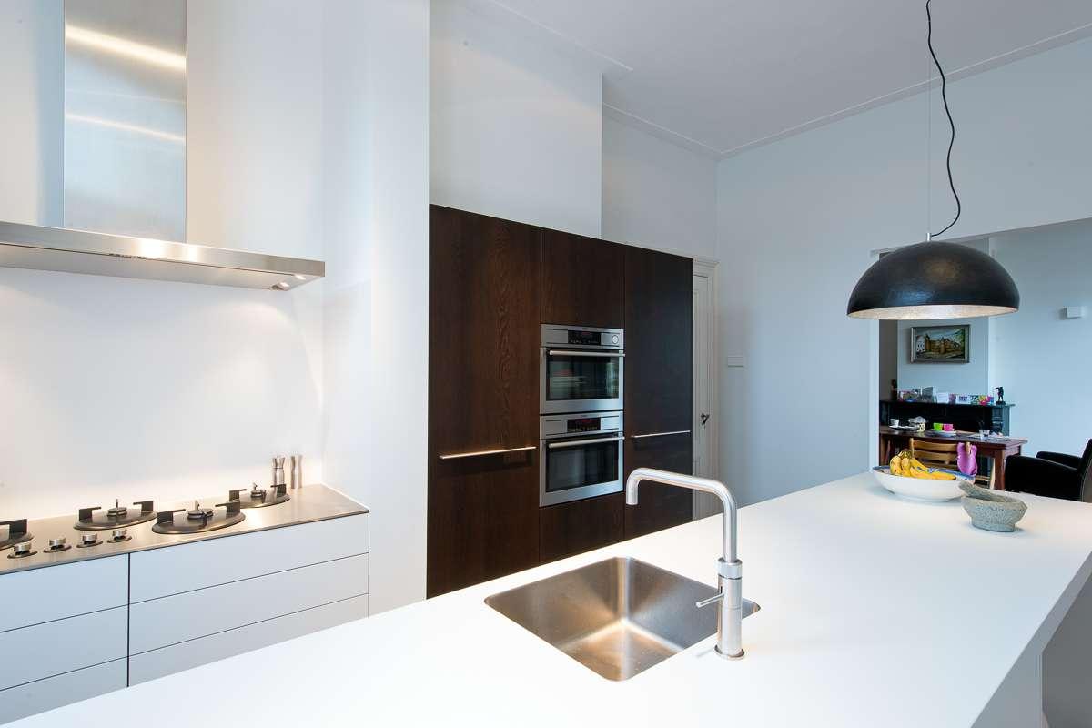 Moderne keuken in oud huis for Moderne keuken ideeen