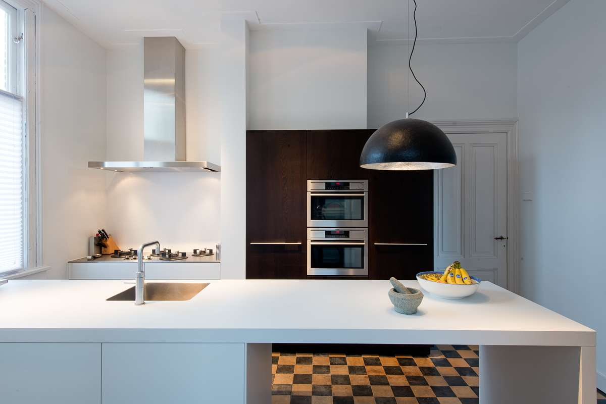 Moderne keuken in oud herenhuis in arnhem - Dimensie centraal keuken eiland ...