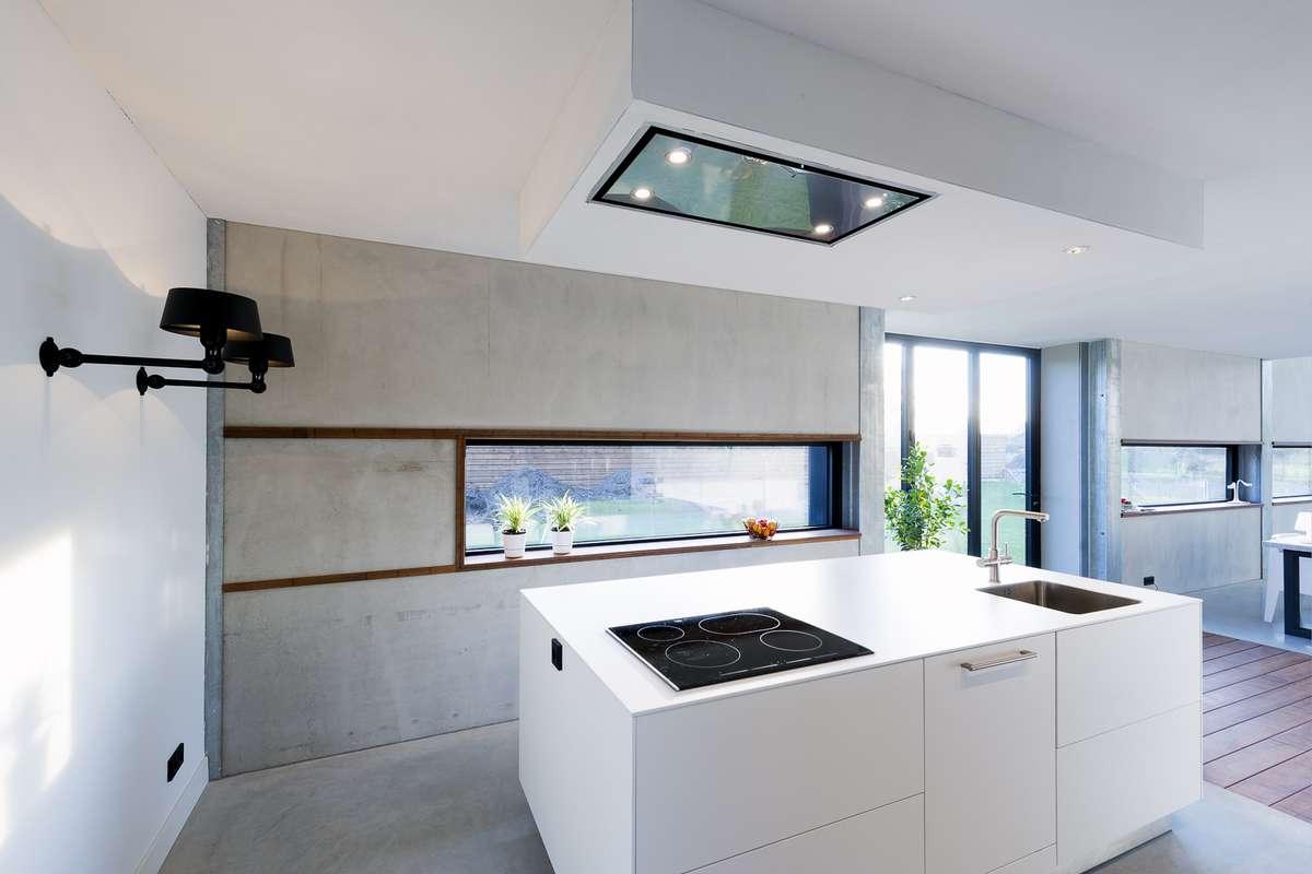 Design keuken onder architectuur gebouwde woning epse