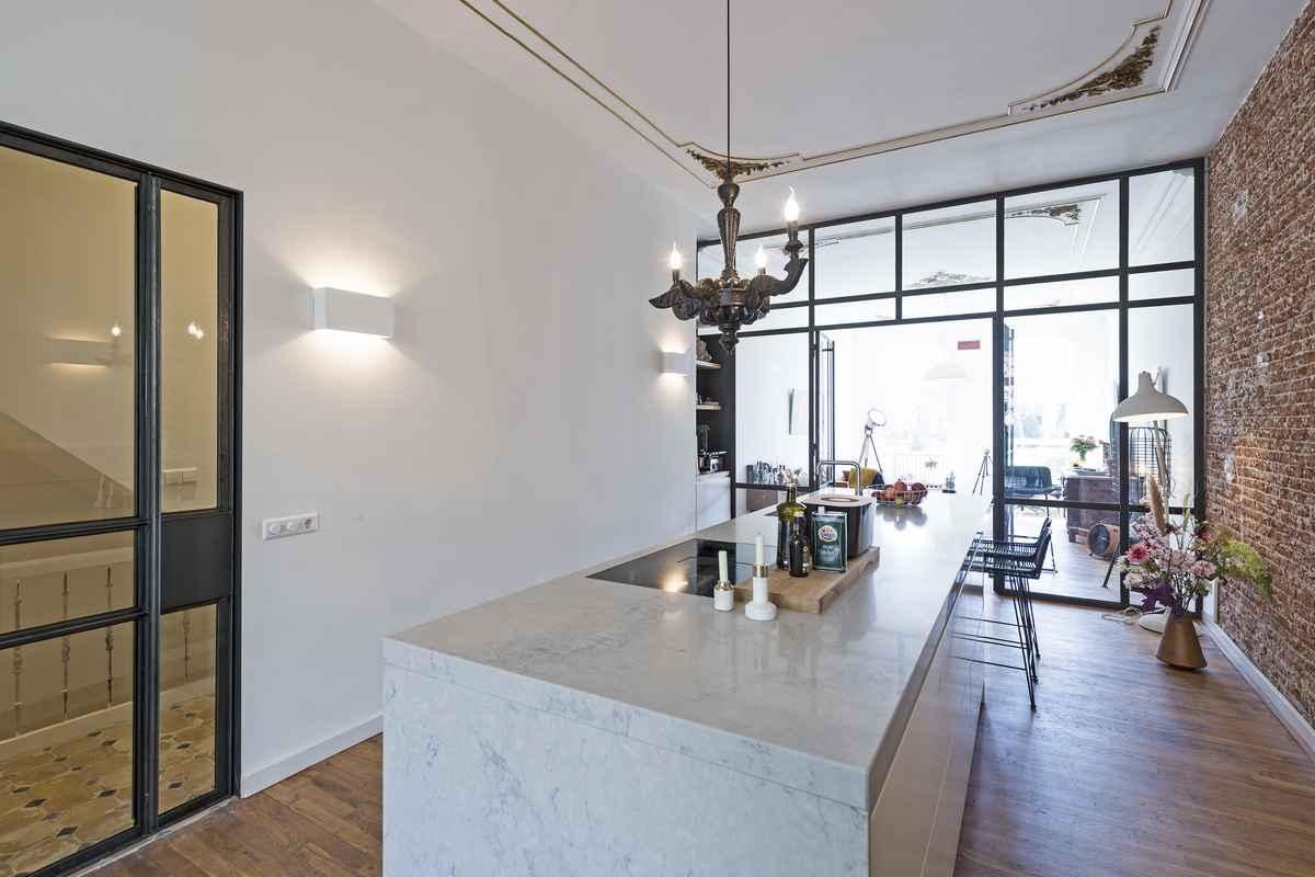 Mooie design keuken in een monumentaal pand in rotterdam keukenmeyt