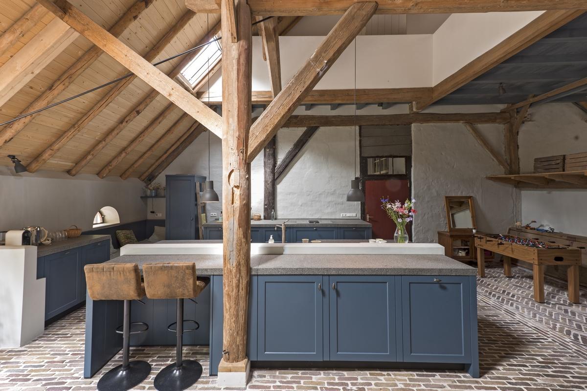 Landelijk nostalgische keuken in originele boerderij te deelen